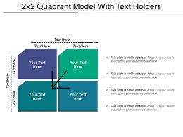 2x2 Quadrant Model With Text Holders