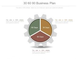 30 60 90 Business Plan Ppt Slides