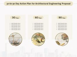 30 60 90 Day Action Plan For Architectural Engineering Proposal Ppt Gallery