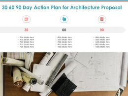 30 60 90 Day Action Plan For Architecture Proposal Ppt Powerpoint Presentation Show