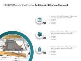 30 60 90 Day Action Plan For Building Architecture Proposal Ppt Powerpoint Presentation Icon