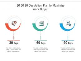 30 60 90 Day Action Plan To Maximize Work Output Infographic Template
