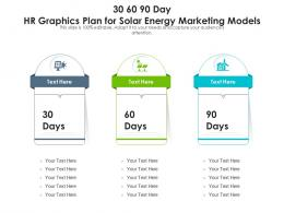 30 60 90 Day HR Graphics Plan For Solar Energy Marketing Models Infographic Template