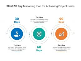 30 60 90 Day Marketing Plan For Achieving Project Goals Infographic Template