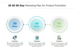 30 60 90 Day Marketing Plan For Product Promotion Infographic Template
