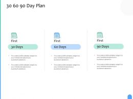 30 60 90 Day Plan C1233 Ppt Powerpoint Presentation Pictures Format Ideas