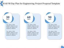 30 60 90 Day Plan For Engineering Project Proposal Template Ppt Powerpoint Aids