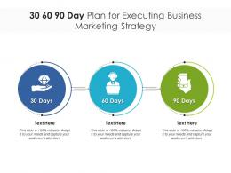 30 60 90 Day Plan For Executing Business Marketing Strategy Infographic Template