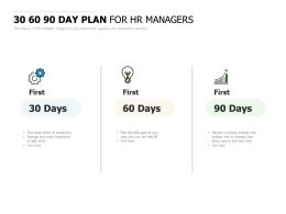 30 60 90 Day Plan For HR Managers