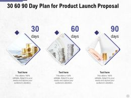 30 60 90 Day Plan For Product Launch Proposal Ppt Powerpoint Presentation Visual Aids