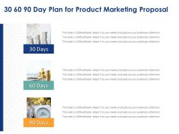 30 60 90 Day Plan For Product Marketing Proposal Ppt Powerpoint Summary Layouts