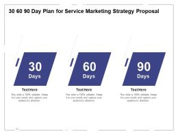 30 60 90 Day Plan For Service Marketing Strategy Proposal Ppt Powerpoint Presentation Layouts Format