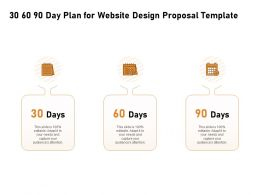 30 60 90 Day Plan For Website Design Proposal Template Ppt Powerpoint Outfit
