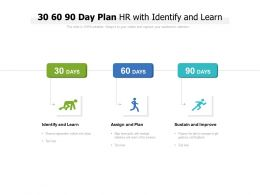 30 60 90 Day Plan HR With Identify And Learn