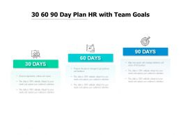 30 60 90 Day Plan HR With Team Goals
