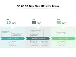 30 60 90 Day Plan HR With Team