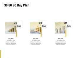 30 60 90 Day Plan Management C1300 Ppt Powerpoint Presentation Pictures Themes