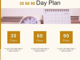 30 60 90 Day Plan Management C885 Ppt Powerpoint Presentation File Grid