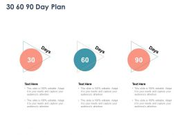 30 60 90 Day Plan Management L1083 Ppt Powerpoint Presentation Files
