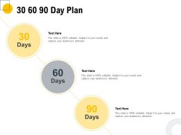 30 60 90 Day Plan Management L1092 Ppt Powerpoint Presentation File