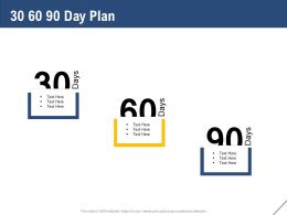 30 60 90 Day Plan Management L1157 Ppt Powerpoint Presentation File