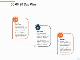 30 60 90 Day Plan Management L1214 Ppt Powerpoint Presentation Slides
