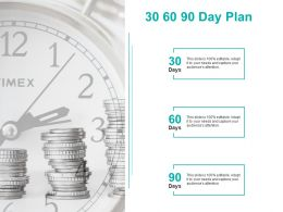 30 60 90 Day Plan Marketing C1101 Ppt Powerpoint Presentation Professional