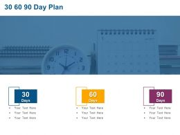 30 60 90 Day Plan Marketing C945 Ppt Powerpoint Presentation File Shapes