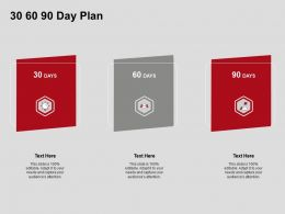30 60 90 Day Plan Ppt Powerpoint Presentation Slides Background Designs