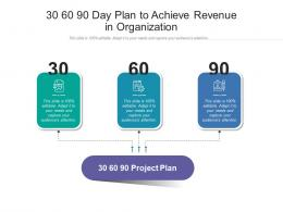 30 60 90 Day Plan To Achieve Revenue In Organization Infographic Template