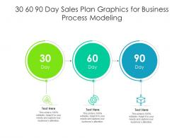 30 60 90 Day Sales Plan Graphics For Business Process Modeling Infographic Template