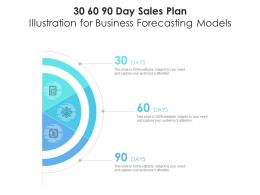 30 60 90 Day Sales Plan Illustration For Business Forecasting Models Infographic Template