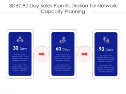 30 60 90 Day Sales Plan Illustration For Network Capacity Planning Infographic Template