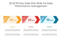 30 60 90 Day Sales Plan Slide For Sales Performance Management Infographic Template