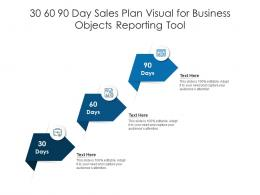 30 60 90 Day Sales Plan Visual For Business Objects Reporting Tool Infographic Template