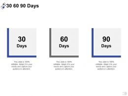 30 60 90 Days A388 Ppt Powerpoint Presentation Inspiration Background Images