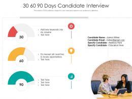 30 60 90 Days Candidate Interview
