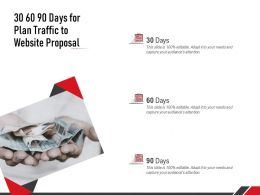 30 60 90 Days For Plan Traffic To Website Proposal Ppt Powerpoint Presentation