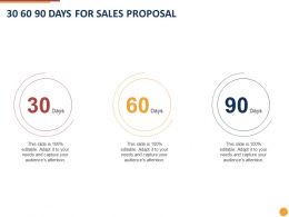 30 60 90 Days For Sales Proposal Ppt Powerpoint Presentation Pictures Layouts