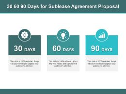 30 60 90 Days For Sublease Agreement Proposal Ppt Powerpoint Presentation Icon Skills