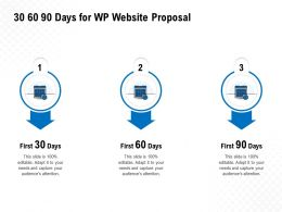 30 60 90 Days For WP Website Proposal Ppt Powerpoint Presentation Visual Aids Show