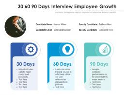 30 60 90 Days Interview Employee Growth