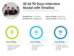 30 60 90 Days Interview Model With Timeline