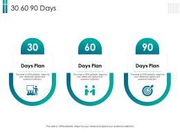30 60 90 Days L2078 Ppt Powerpoint Presentation Slides Icon