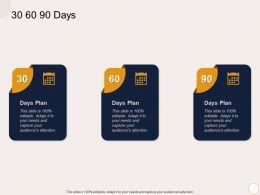 30 60 90 Days M2151 Ppt Powerpoint Presentation Icon Sample