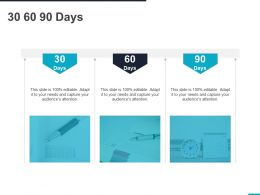 30 60 90 Days Management C1129 Ppt Powerpoint Presentation Icon