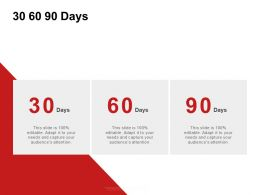 30 60 90 Days Management C982 Ppt Powerpoint Presentation Icon Rules
