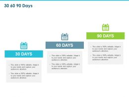 30 60 90 Days Management Ppt Powerpoint Presentation Inspiration Samples