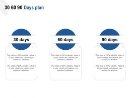 30 60 90 Days Plan A1027 Ppt Powerpoint Presentation Deck