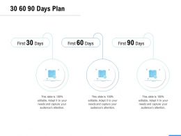 30 60 90 Days Plan A1051 Ppt Powerpoint Presentation Show Influencers